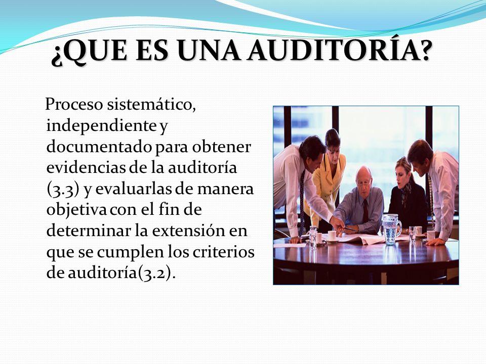 ACTORES EN UNA AUDITORÍA Auditor/es: son las personas que llevan a cabo la auditoría.