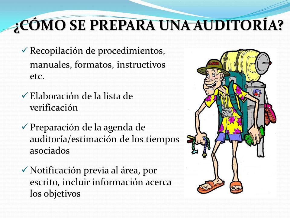 lista de verificacion para auditoria: