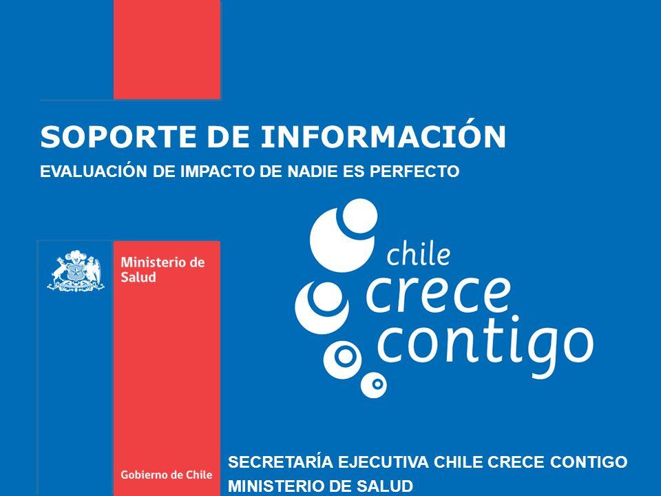 SOPORTE DE INFORMACIÓN EVALUACIÓN DE IMPACTO DE NADIE ES PERFECTO SECRETARÍA EJECUTIVA CHILE CRECE CONTIGO MINISTERIO DE SALUD
