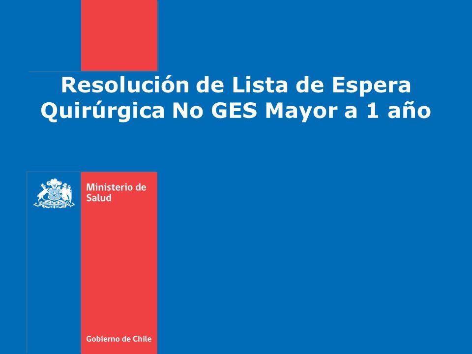 Resolución de Lista de Espera Quirúrgica No GES Mayor a 1 año