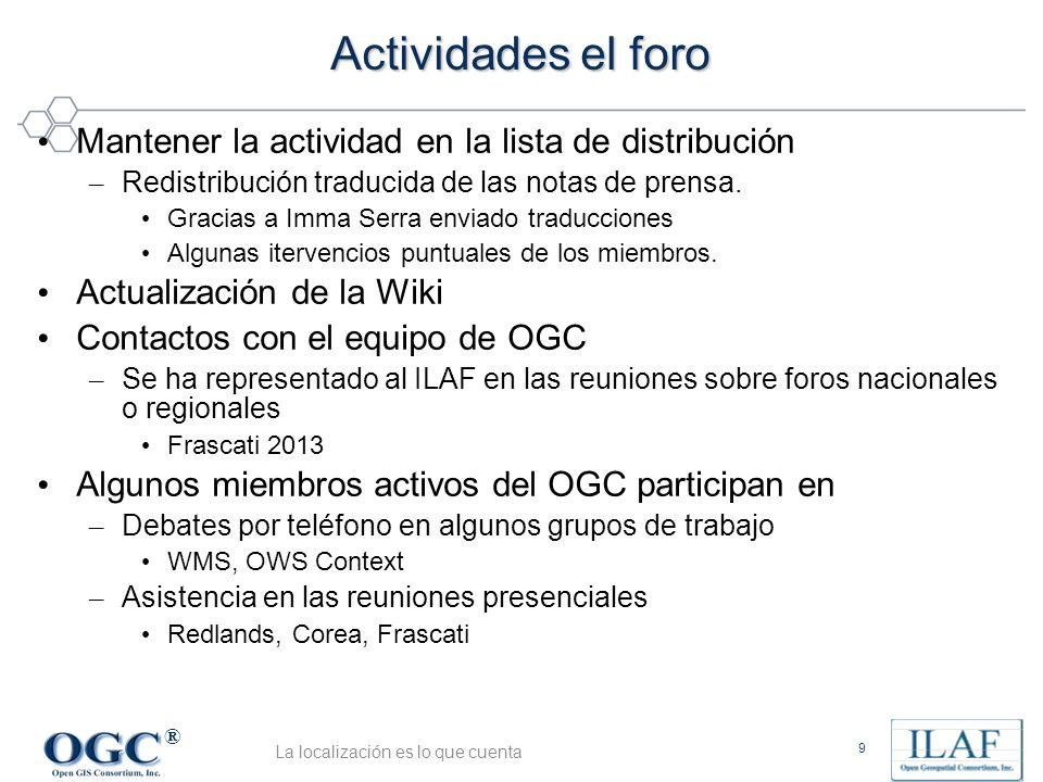 ® Actividades el foro Mantener la actividad en la lista de distribución – Redistribución traducida de las notas de prensa.