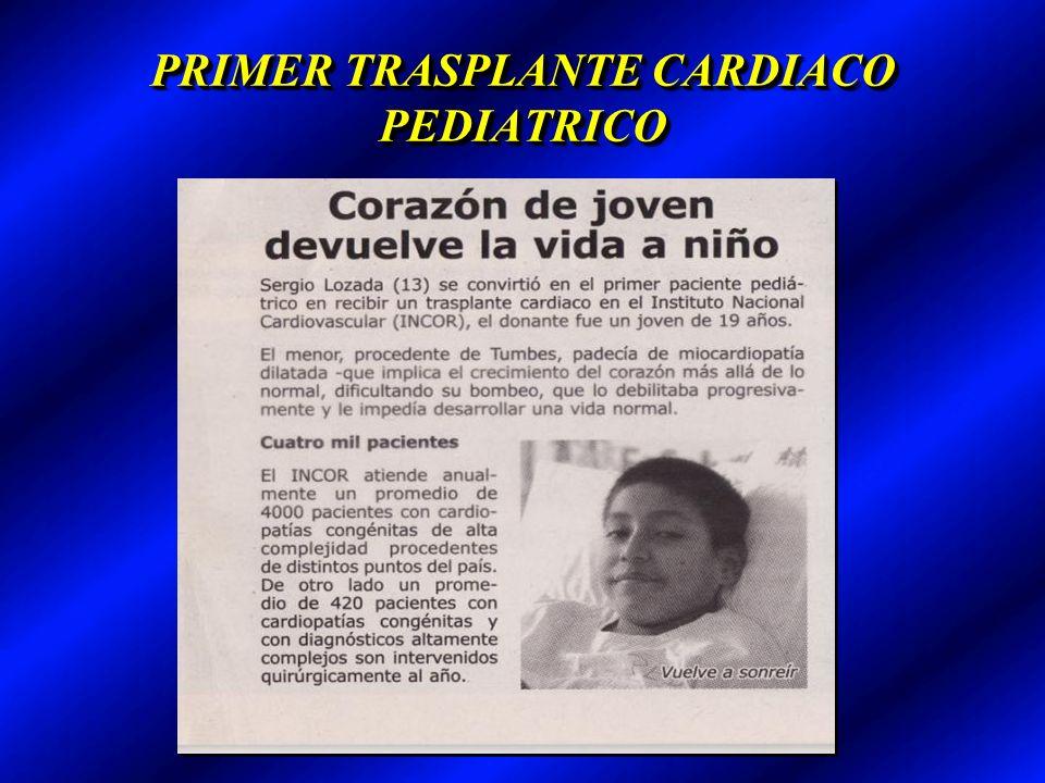 PRIMER TRASPLANTE CARDIACO PEDIATRICO