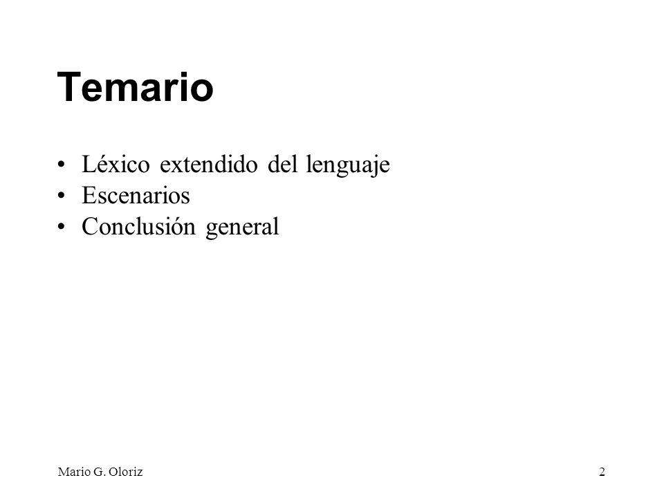 Mario G.Oloriz23 4. Describir símbolos Consiste en determinar su noción y su impacto.