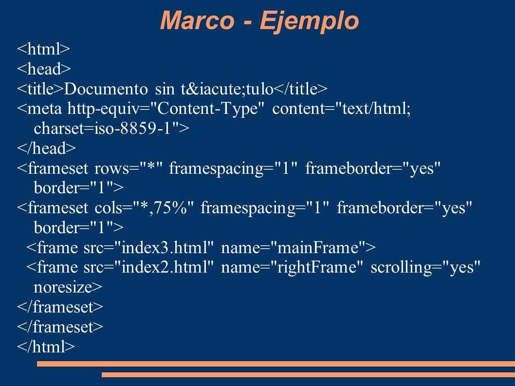 Marco - Ejemplo Documento sin título