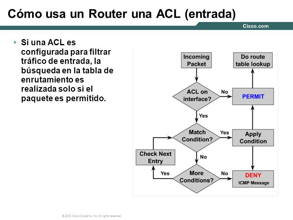 © 2003 Cisco Systems, Inc. All rights reserved. Procesando una ACL de Entrada y Salida