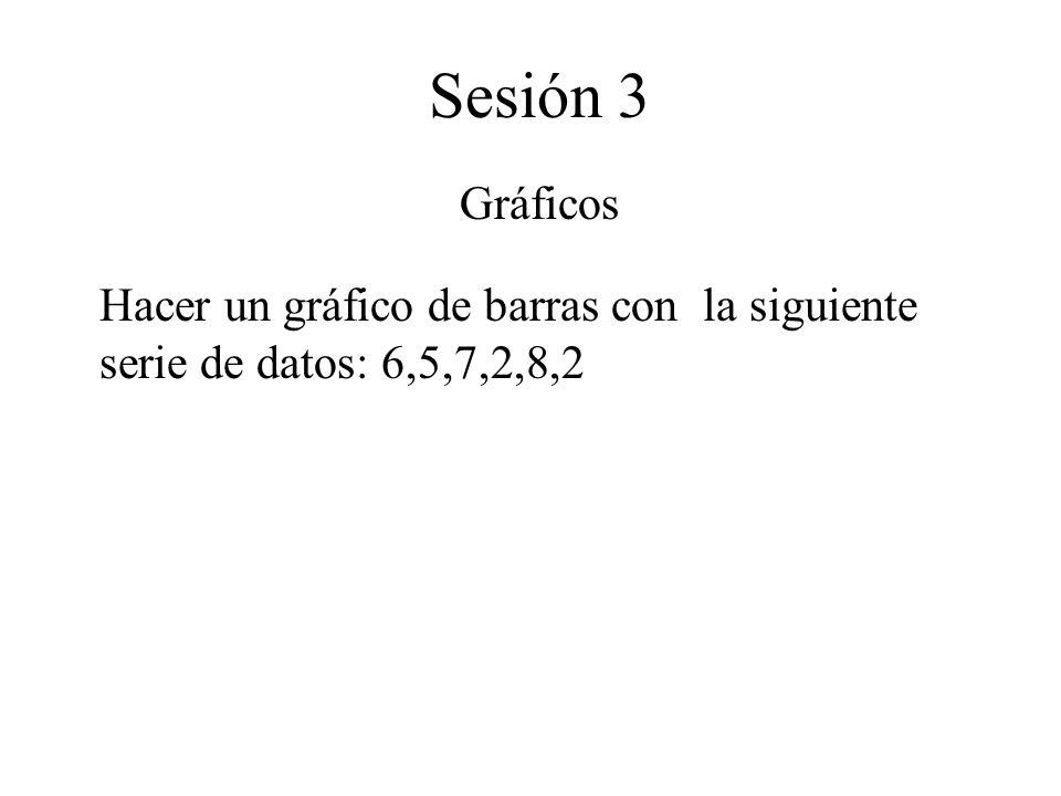 Sesión 3 Tablas dinámicas Utilizar el asistente para tablas dinámicas