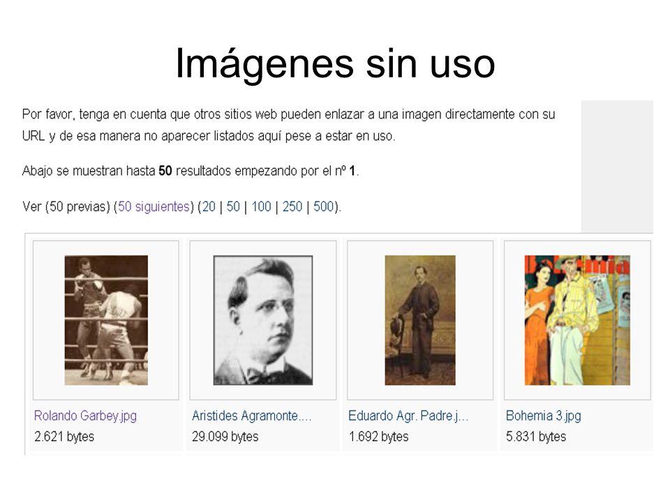 Imágenes sin uso