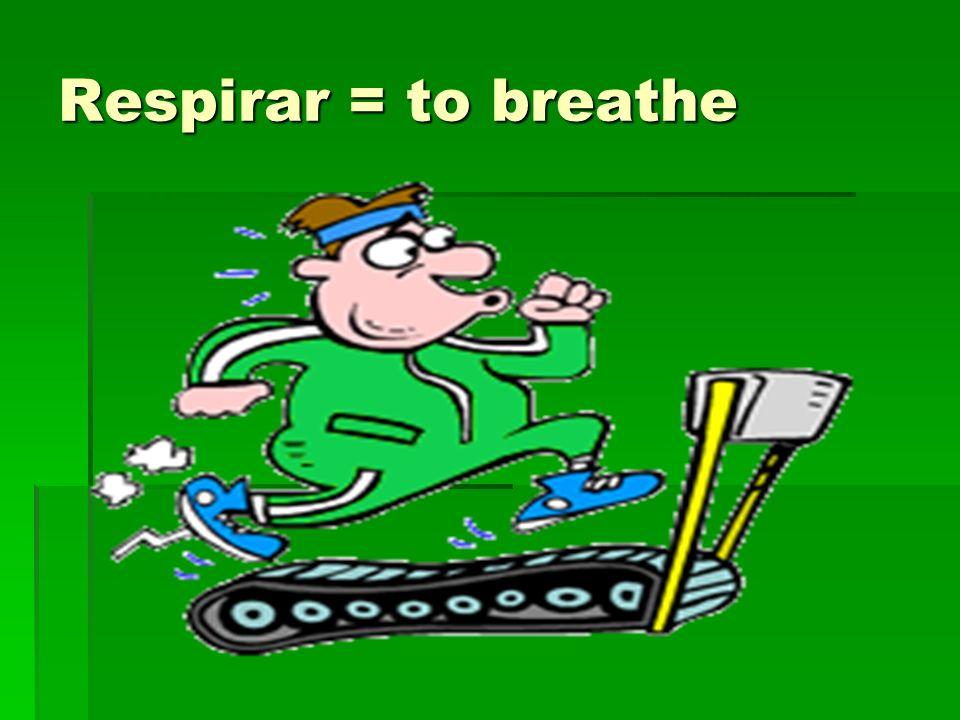 Respirar = to breathe
