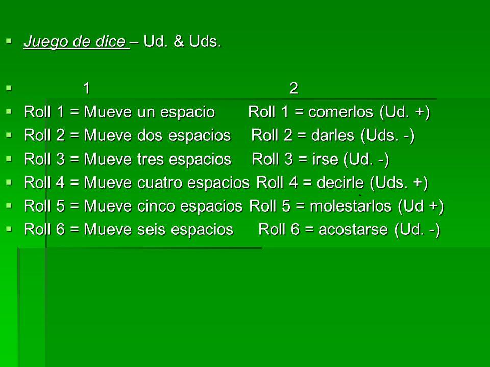 TASK: Después de la prueba… 1) Tomen una lista de vocabulario 2) Completen Uds.