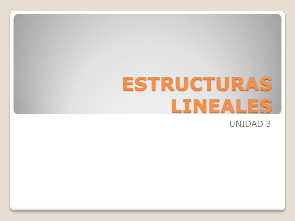 ESTRUCTURAS LINEALES UNIDAD 3