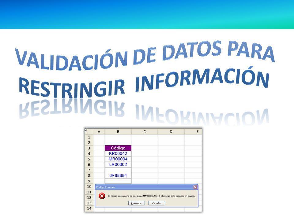 ¿ Qué es la validación de datos .