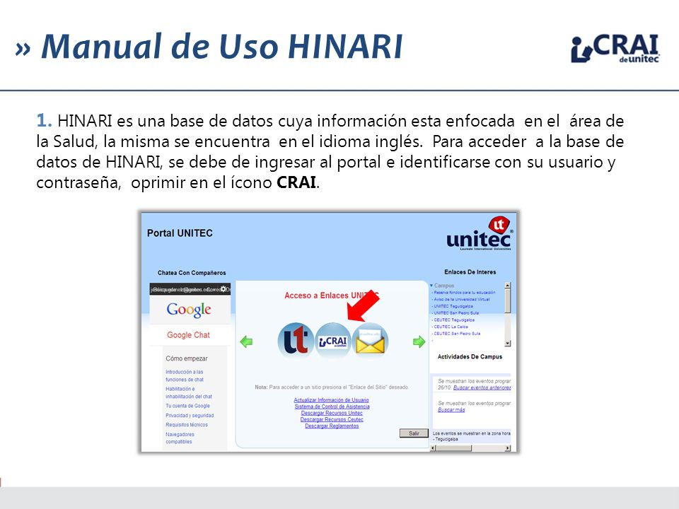 » Manual de Uso HINARI 1.