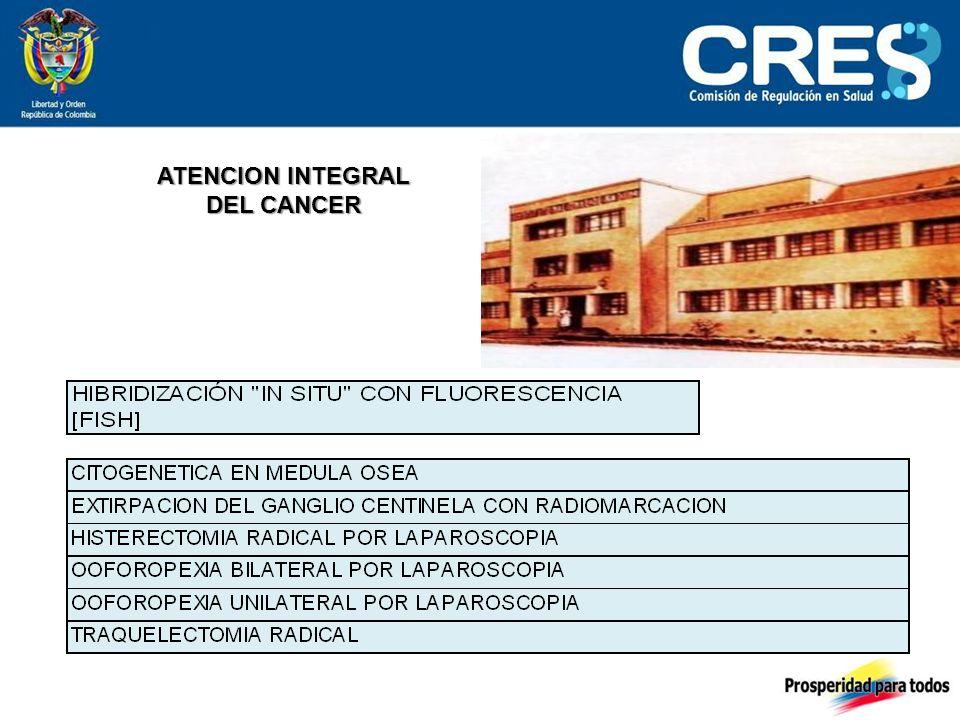 ATENCION INTEGRAL DEL CANCER