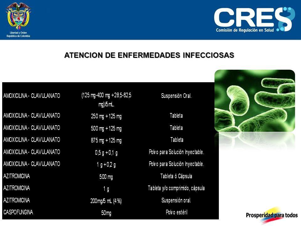 ATENCION DE ENFERMEDADES INFECCIOSAS