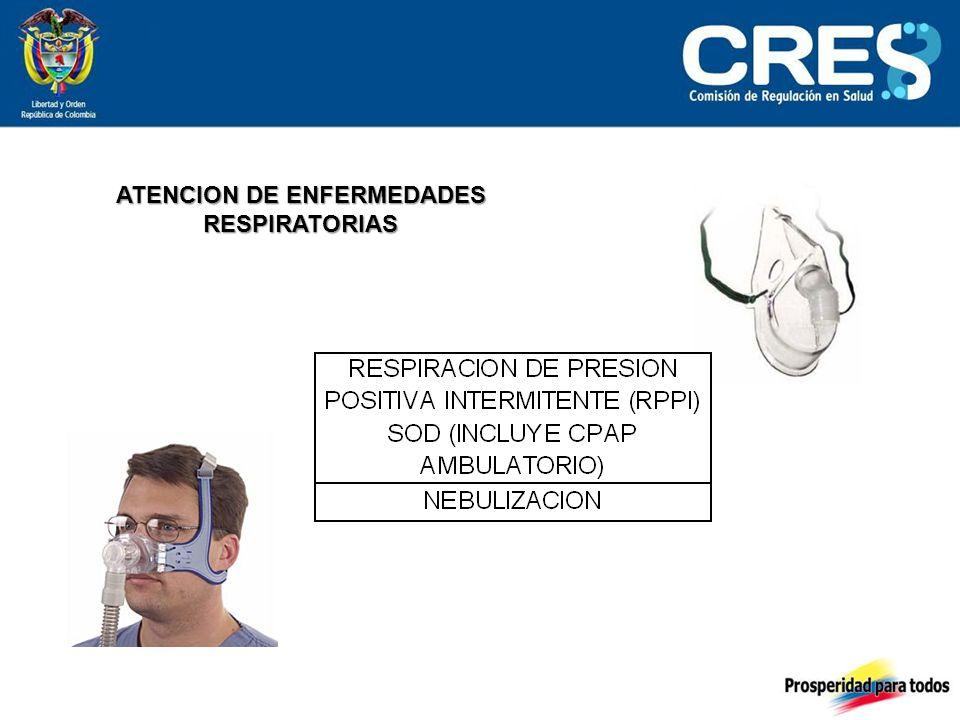 ATENCION DE ENFERMEDADES RESPIRATORIAS