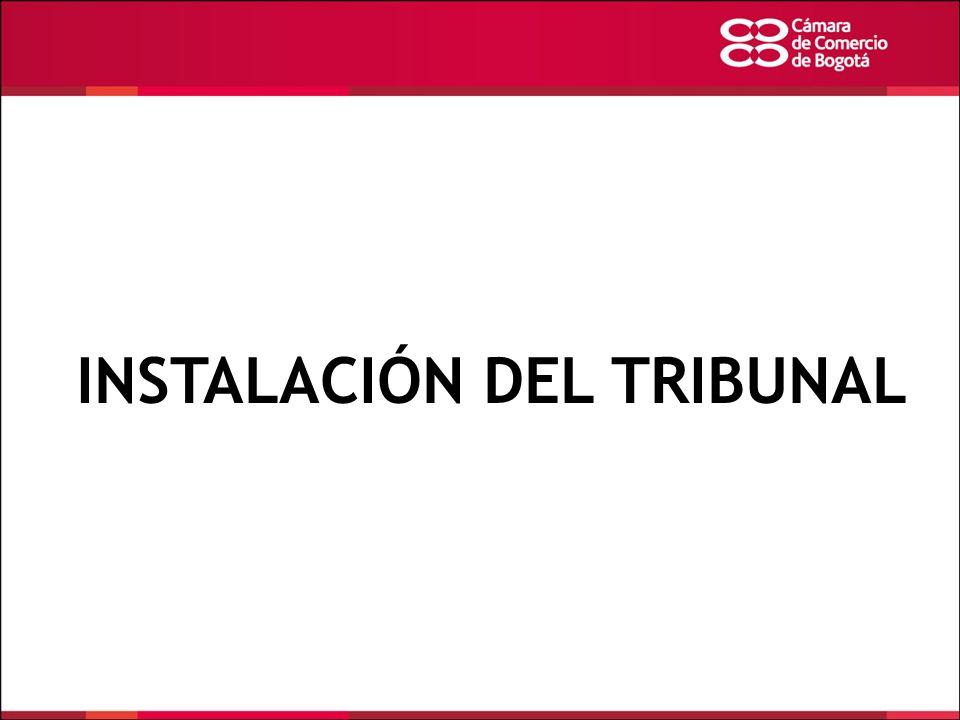 INSTALACIÓN DEL TRIBUNAL