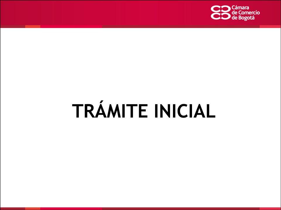TRÁMITE INICIAL