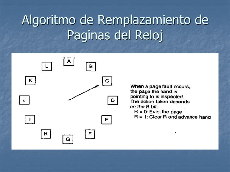 Algoritmo de Remplazamiento de Paginas del Reloj
