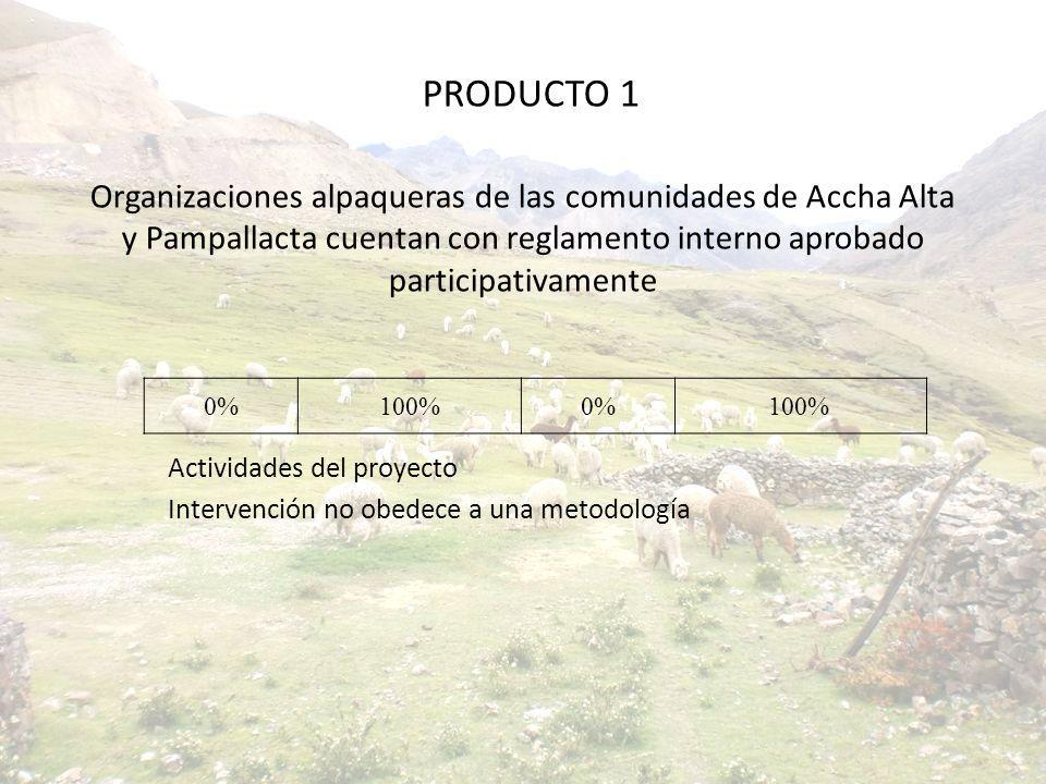Organizaciones alpaqueras de las comunidades de Accha Alta y Pampallacta cuentan con reglamento interno aprobado participativamente Actividades del pr
