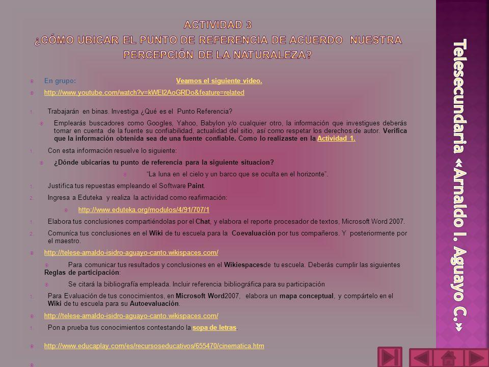 1.En el procesador de textos, Microsoft Word, elaboraras el reporte y conclusiones..