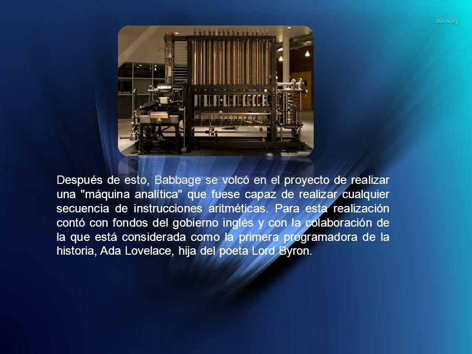 Después de esto, Babbage se volcó en el proyecto de realizar una