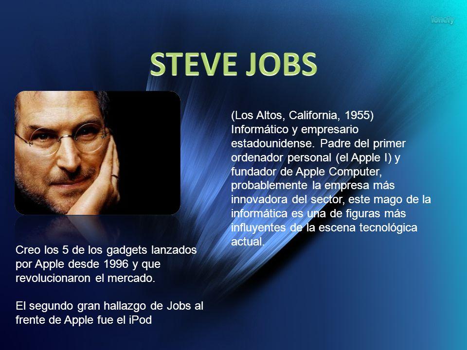 (Los Altos, California, 1955) Informático y empresario estadounidense. Padre del primer ordenador personal (el Apple I) y fundador de Apple Computer,