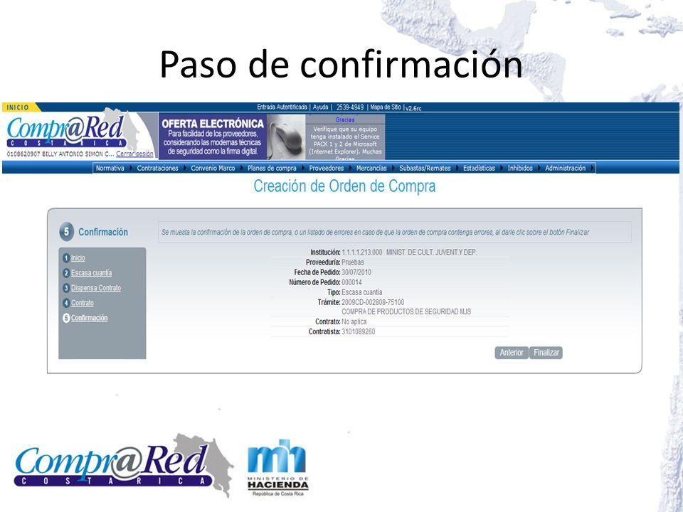 Editar orden de compra Ver documento en formato PDF Editar líneas de la orden de compra Completada la información de la orden de compra se procede a finalizar la misma Actualizar la información de la orden de compra
