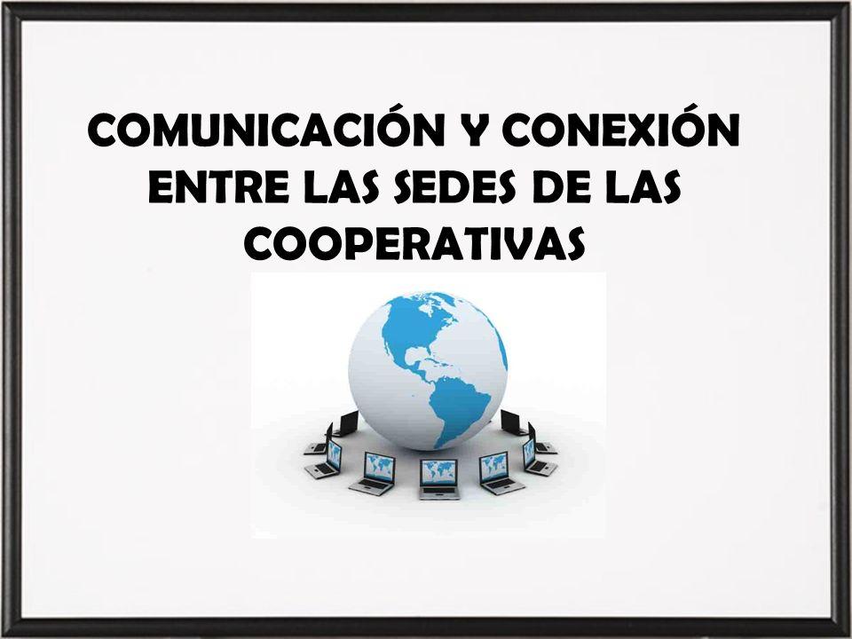 COMUNICACIÓN Y CONEXIÓN ENTRE LAS SEDES DE LAS COOPERATIVAS