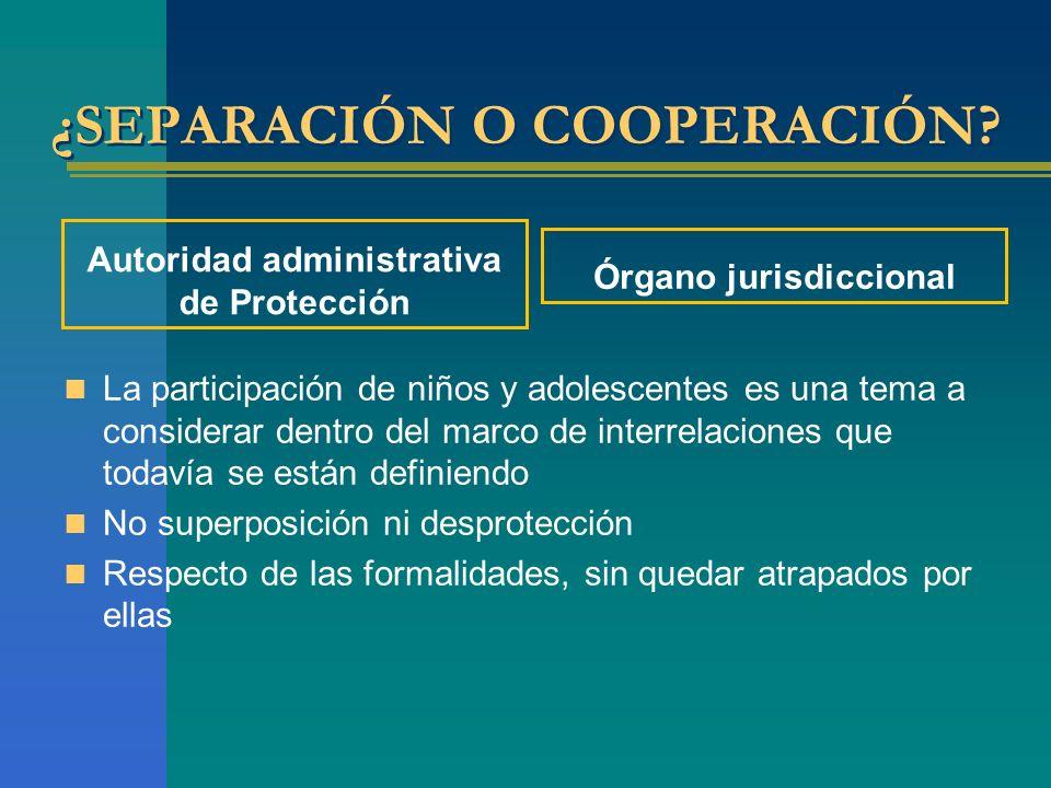 ¿SEPARACIÓN O COOPERACIÓN.