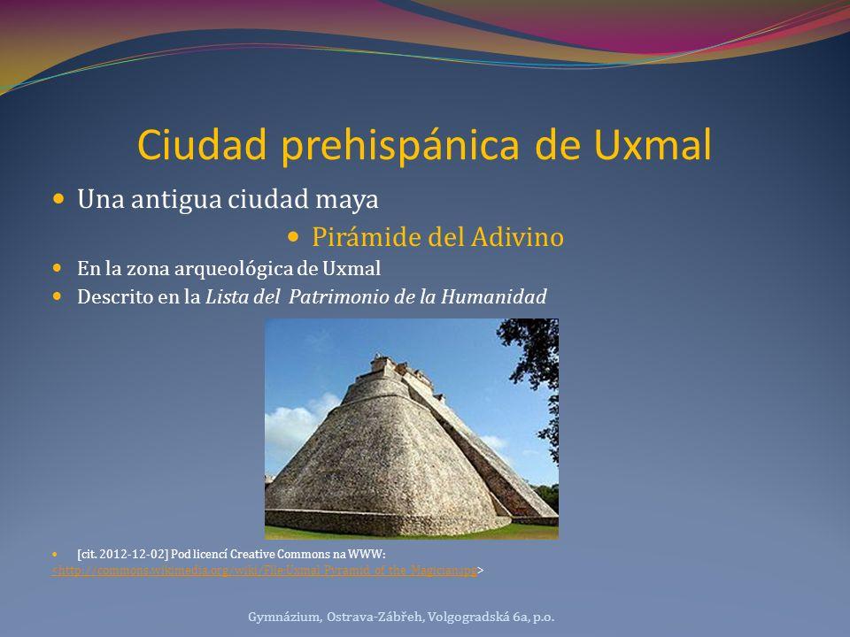 Ciudad prehispánica de Uxmal Una antigua ciudad maya Pirámide del Adivino En la zona arqueológica de Uxmal Descrito en la Lista del Patrimonio de la H