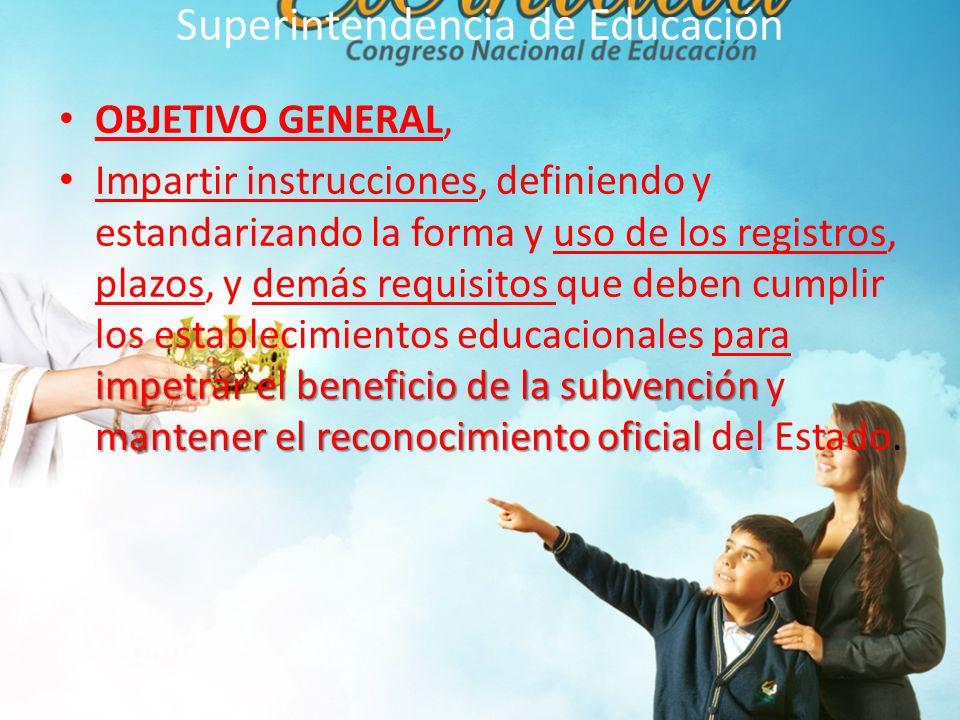 Superintendencia de Educación 7.- DE LA EDUCACION Y LOS ESTABLECIMIENTOS EDUCACIONALES Establecimientos Subv particulares: Administrados por Personas Jurídicas de derecho privado, cuyo objetivo social única es la Educación