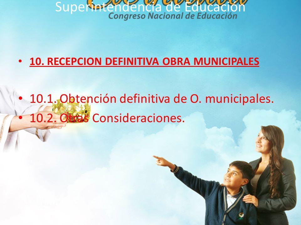 Superintendencia de Educación 11.DEL INFORMA SANITARIO 11.1.
