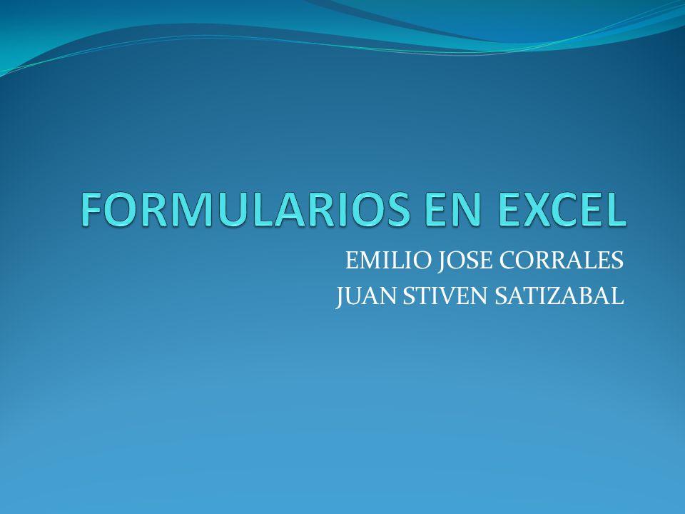 EMILIO JOSE CORRALES JUAN STIVEN SATIZABAL