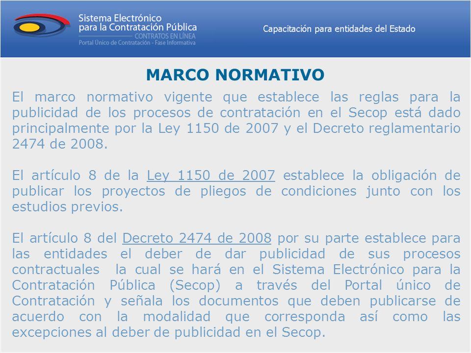 A través de la fase informativa, se permite la consulta por internet de información sobre los procesos contractuales que gestionan las entidades del Estado colombiano de acuerdo con lo establecido en el Estatuto General de Contratación de la Administración Pública.