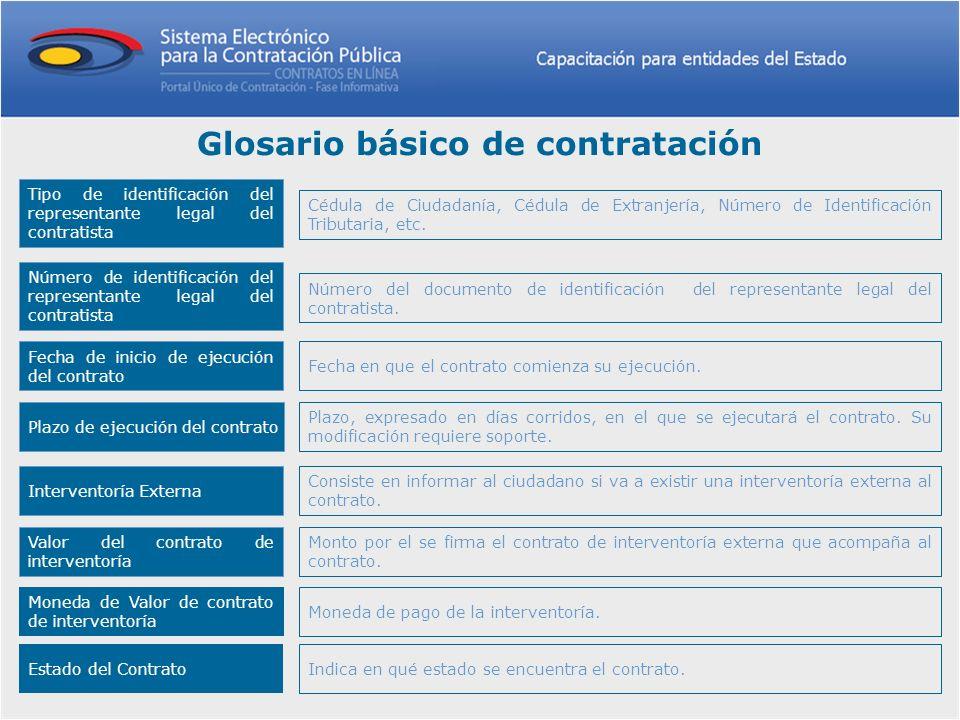 Tipo de identificación del representante legal del contratista Cédula de Ciudadanía, Cédula de Extranjería, Número de Identificación Tributaria, etc.