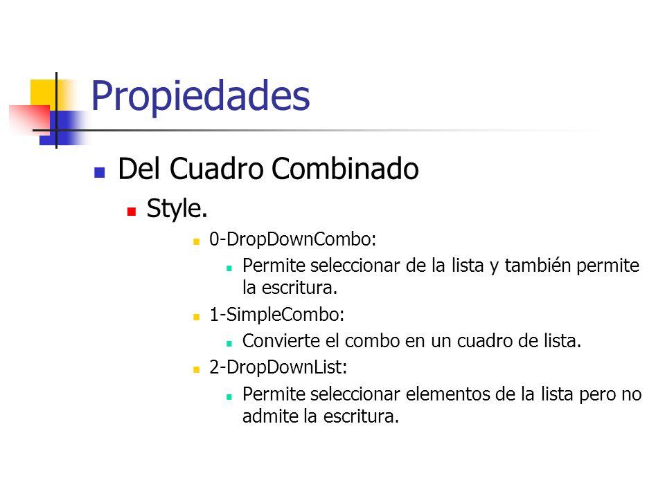 Propiedades Del Cuadro Combinado Style.