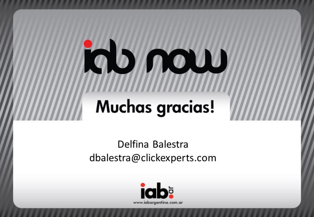 Delfina Balestra dbalestra@clickexperts.com