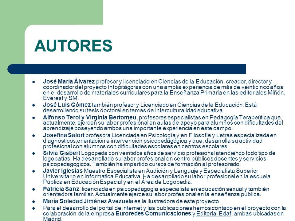 José María Álvarez profesor y licenciado en Ciencias de la Educación, creador, director y coordinador del proyecto Infopitágoras con una amplia experi