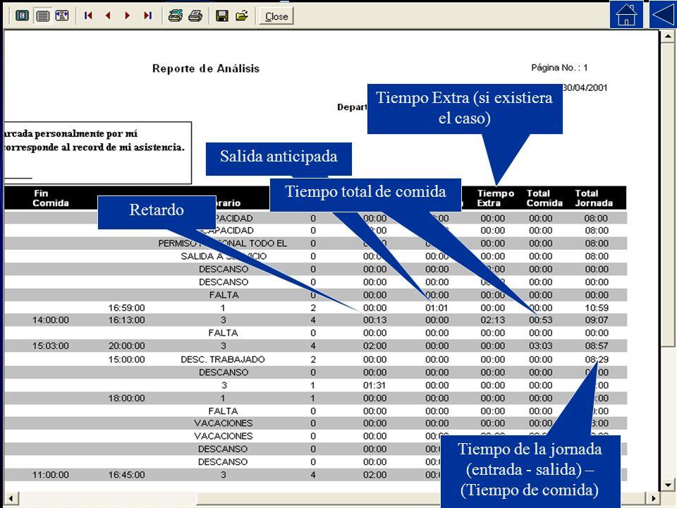Este reporte muestra el resultado del proceso de análisis, es decir el comparativo entre registros contra la base de datos. Este reporte es el mas com