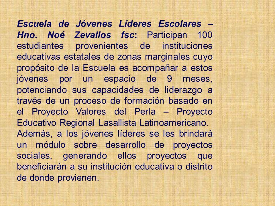 Escuela de Jóvenes Líderes Escolares – Hno.