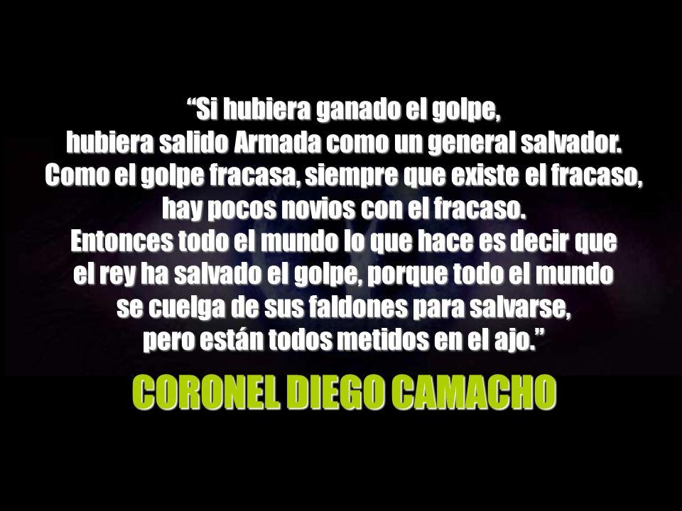 Pocas horas después del asalto al Congreso, Calderón también es informado de la participación en el mismo de agentes a las órdenes de Cortina.
