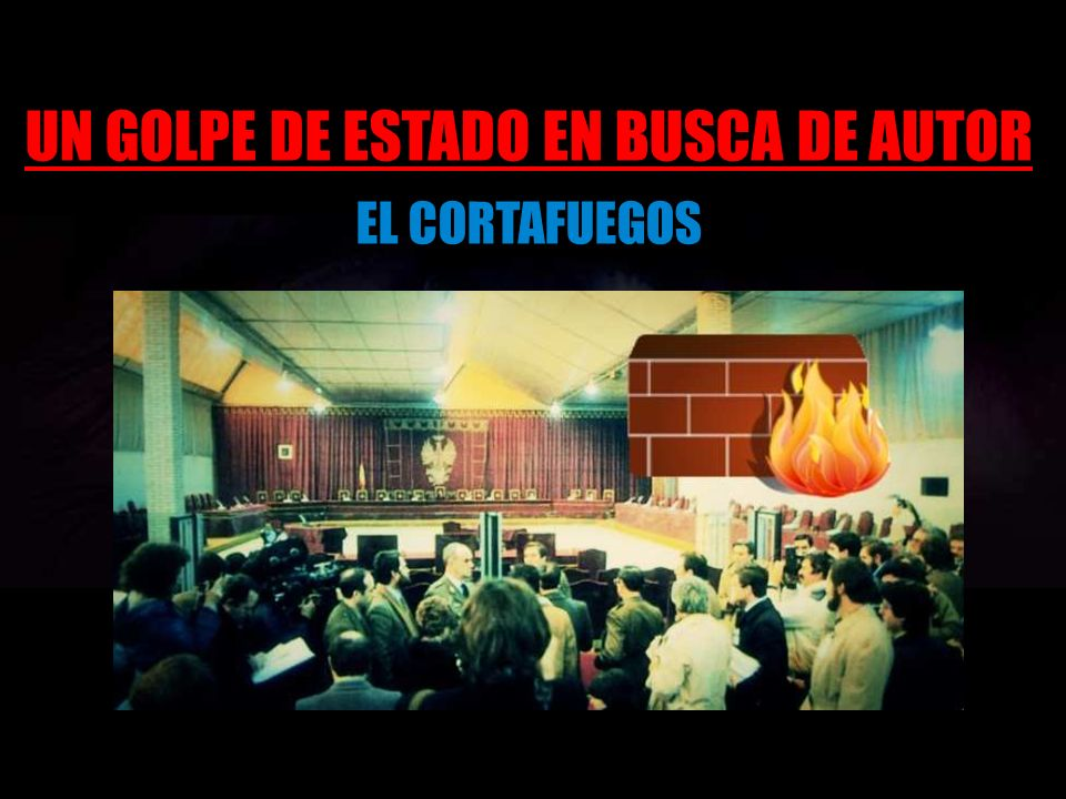 UN GOLPE DE ESTADO EN BUSCA DE AUTOR EL CORTAFUEGOS