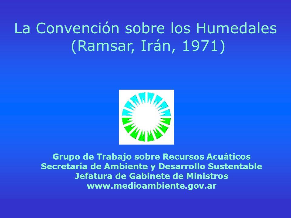 La Convención sobre los Humedales (Ramsar, Irán,1971) (www.ramsar.org) Grupo de Trabajo sobre Recursos Acuáticos Secretaría de Ambiente y Desarrollo S