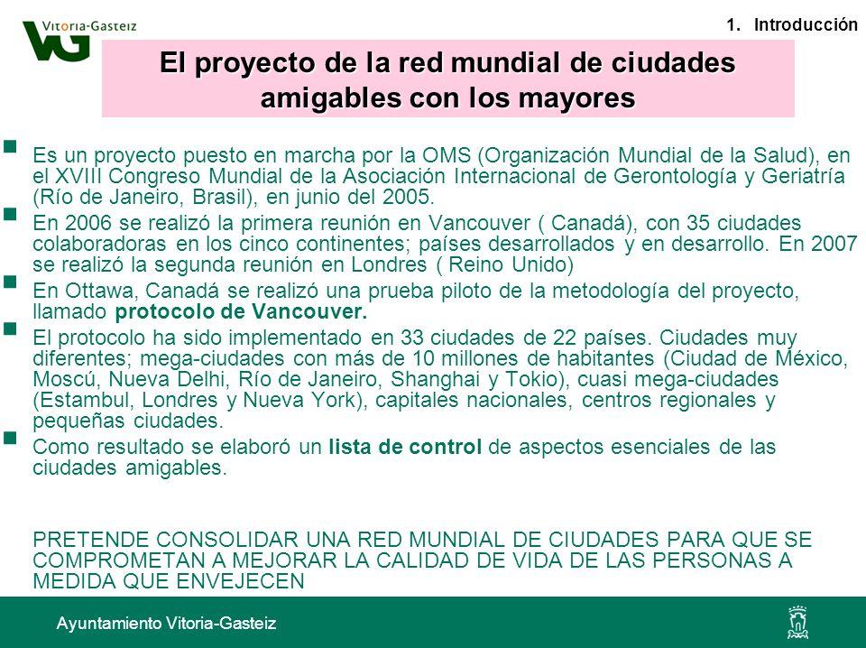 Ayuntamiento Vitoria-Gasteiz Es un proyecto puesto en marcha por la OMS (Organización Mundial de la Salud), en el XVIII Congreso Mundial de la Asociac