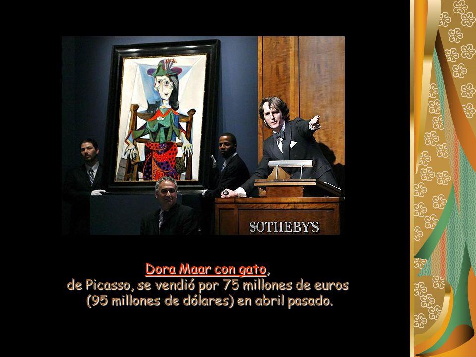 Dora Maar con gato, de Picasso, se vendió por 75 millones de euros (95 millones de dólares) en abril pasado.