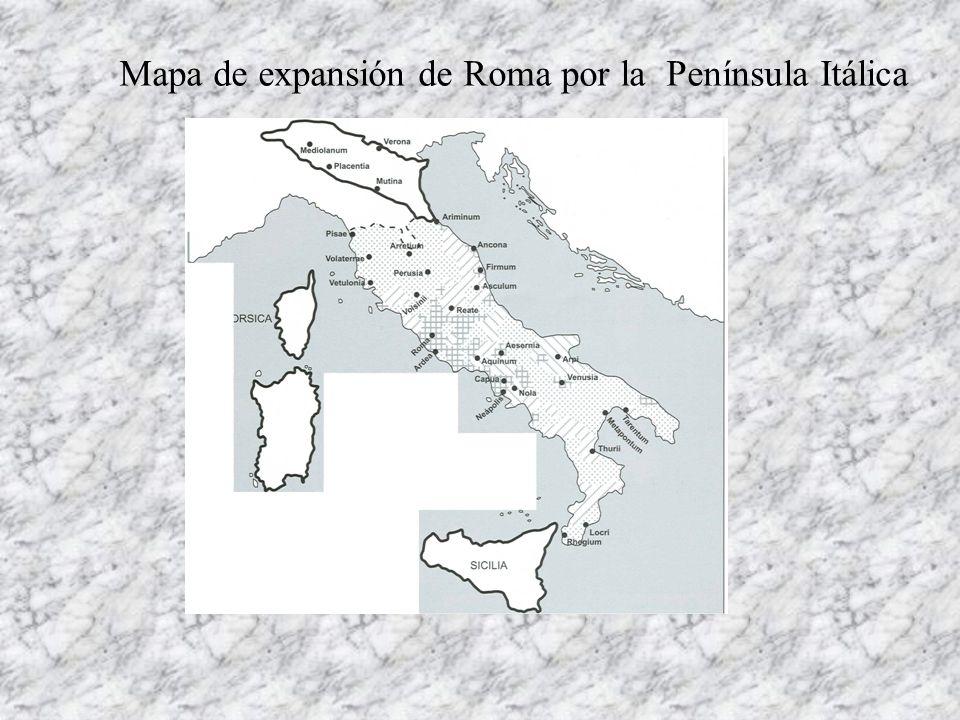 Roma, a la defensiva Liga Latina, expansiva ETRUSCOS a.