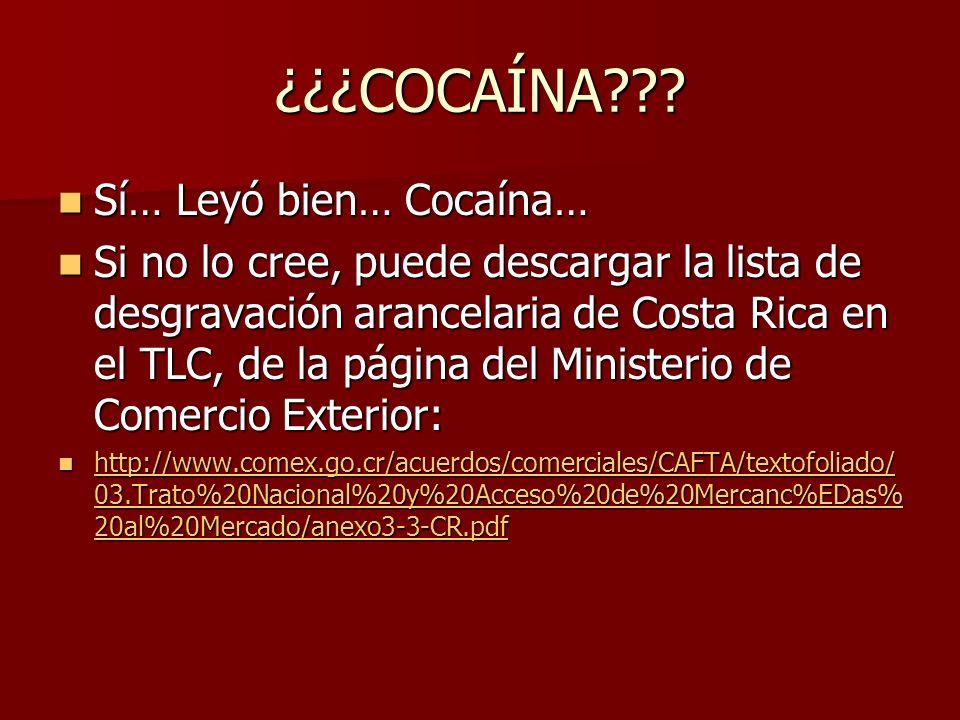 ¿¿¿COCAÍNA??.