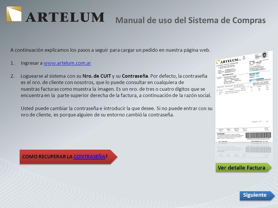 Una vez seleccionado el pedido el sistema lo abre y abajo aparece un botón llamado REPETIR PEDIDO.