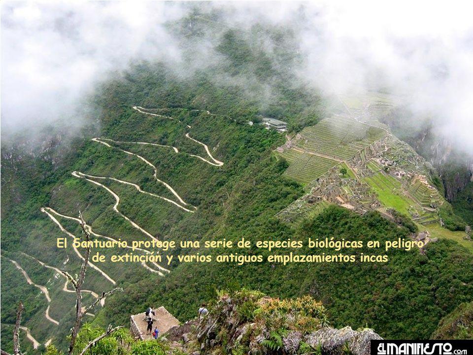 El Santuario protege una serie de especies biológicas en peligro de extinción y varios antiguos emplazamientos incas