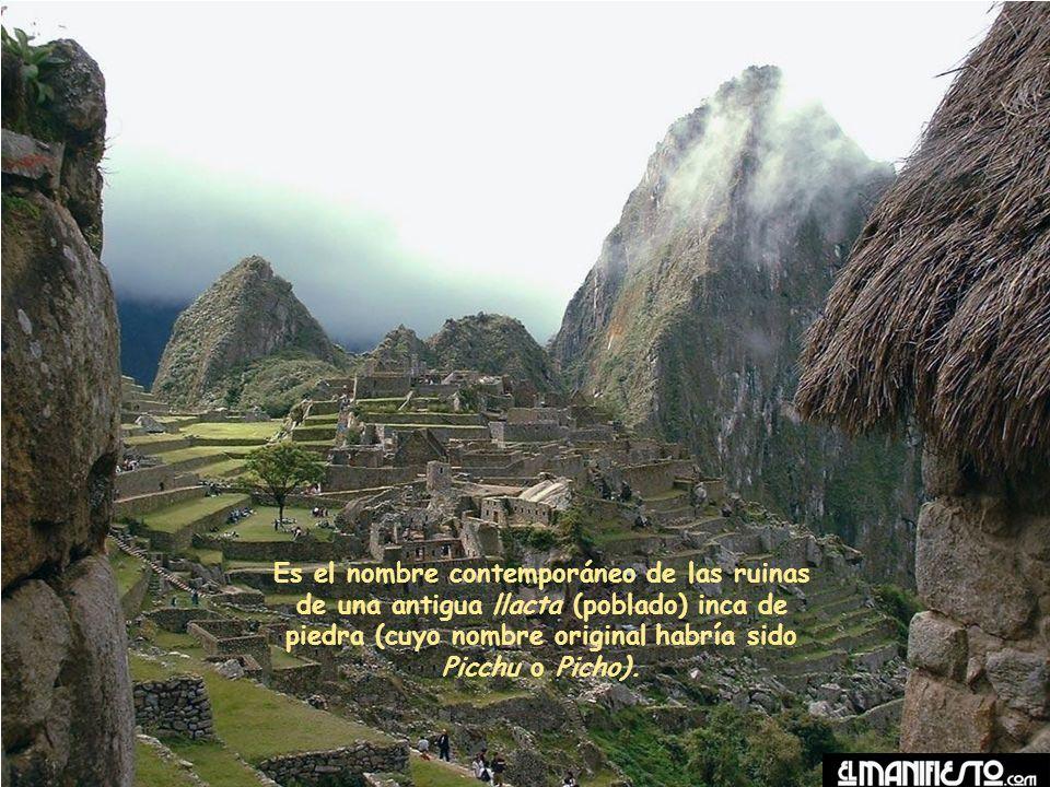Es el nombre contemporáneo de las ruinas de una antigua llacta (poblado) inca de piedra (cuyo nombre original habría sido Picchu o Picho).